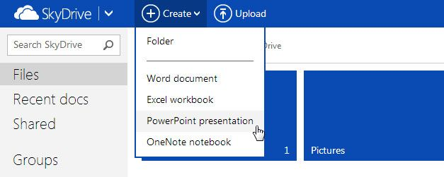 How to Create a PowerPoint Online using MS Office Web Apps
