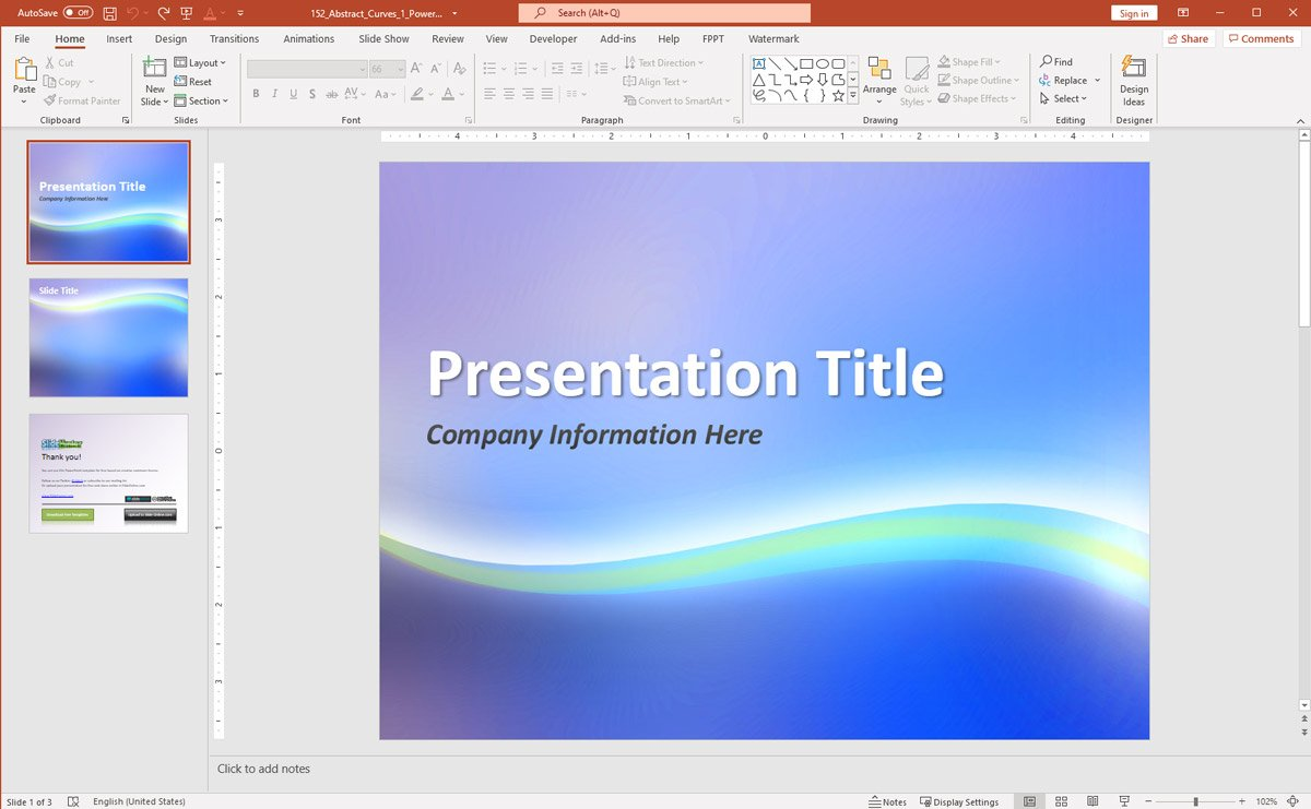 Creative Abstract Background Presentation Theme