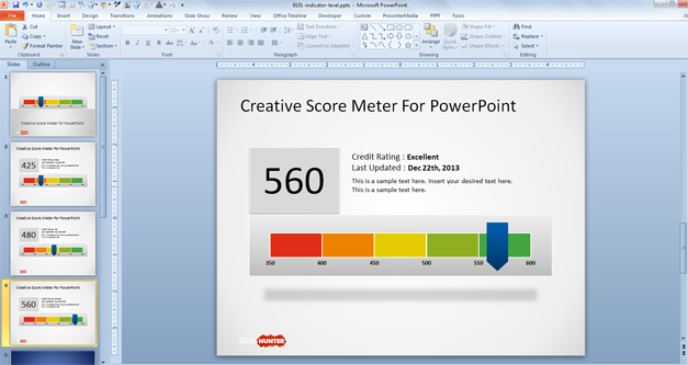 Free Credit Score PowerPoint Template
