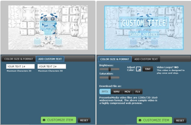 customize boxy robot template for powerpoint