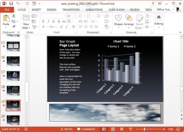 dark meeting business chart