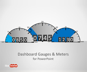 Dashboard Gauges for PowerPoint