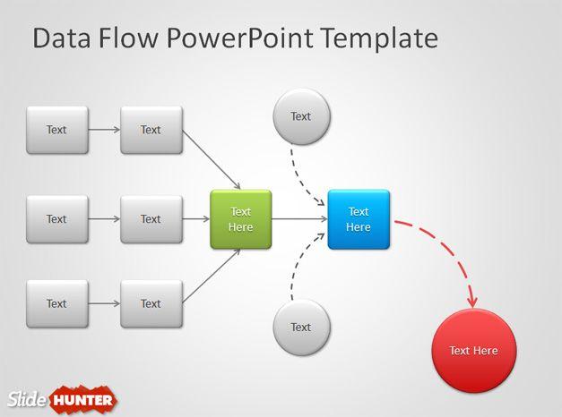 Plantilla de Diagram de Flujo para PowerPoint