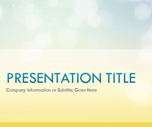 Glow Day PowerPoint Template