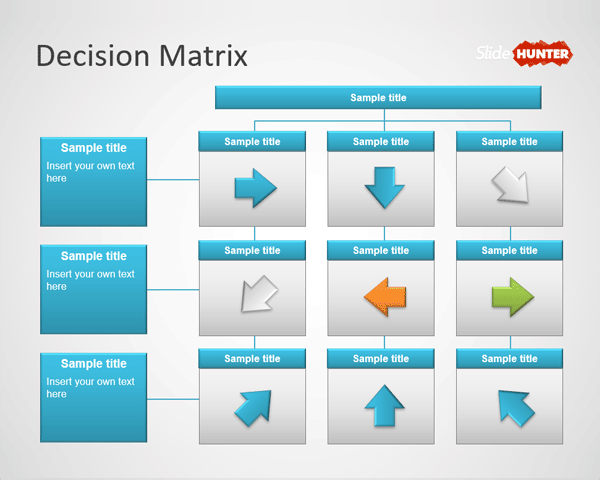 Decision Making Matrix PowerPoint Template