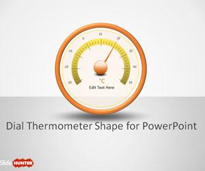 Dial Thermometer Shapes for PowerPoint