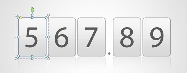 odometer digit template for powerpoint