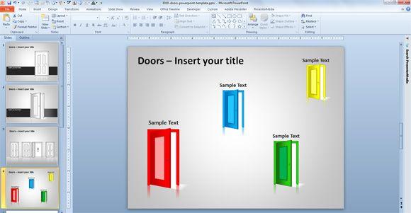 open door powerpoint template