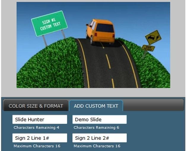 driving to success demo slide for slide hunter