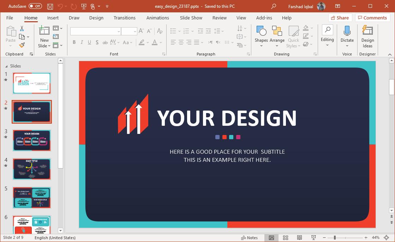 easy design slides