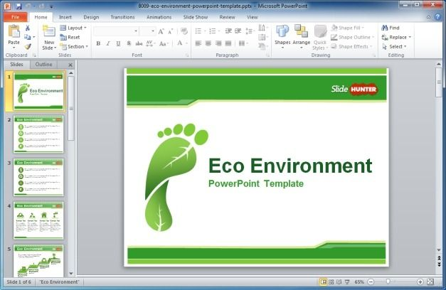 eco-environment-powerpoint-template