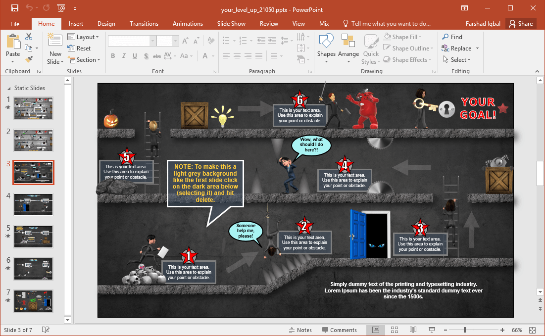 editing tips for halloween video game slides