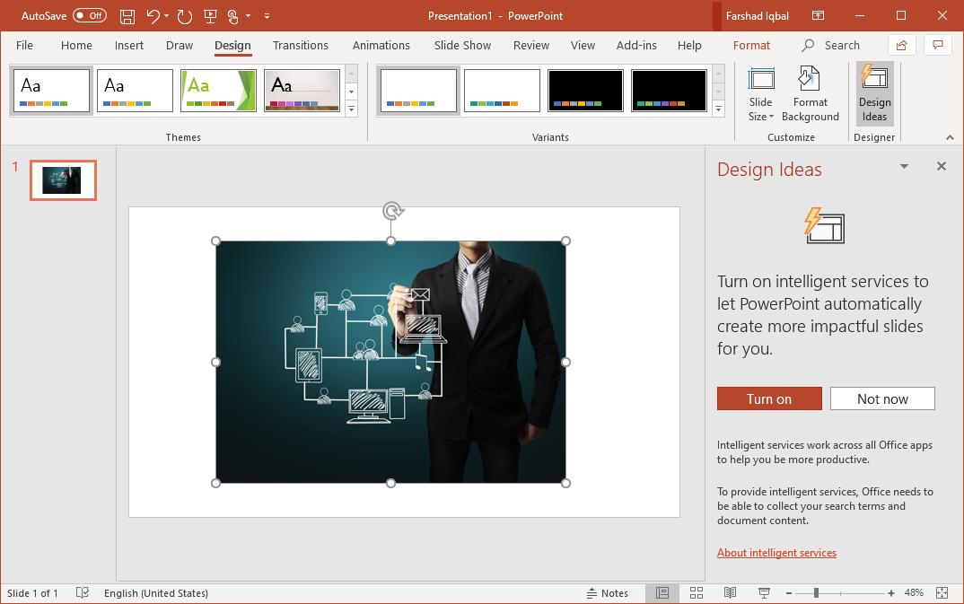 enable powerpoint designer
