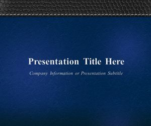 Executive Leather Blue PowerPoint Template