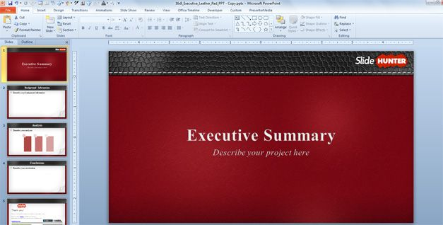 Executive summary presentations