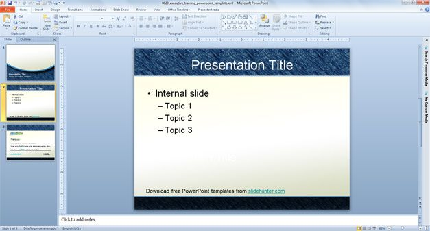 Executive PowerPoint Background and Templates