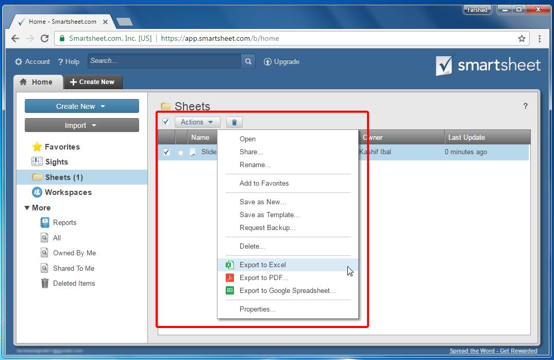 export-smartsheet