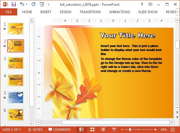 fall festivals PowerPoint template