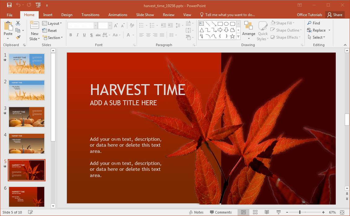 fall-leaves-slide-design