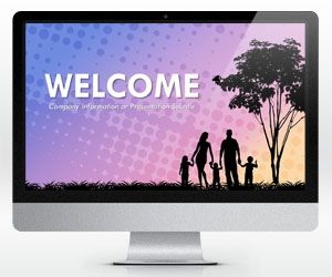 Widescreen Family Social PowerPoint Template (16:9)