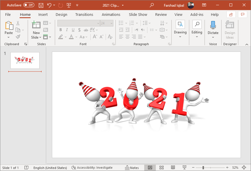 figures Holding the year 2021 clipart
