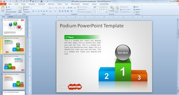 free success powerpoint template