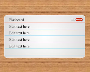 Flash Card PowerPoint Template