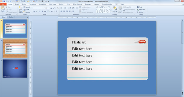 Free Flash Card PowerPoint Template