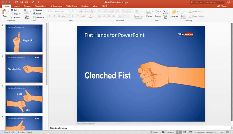 flat-hands-powerpoint-template