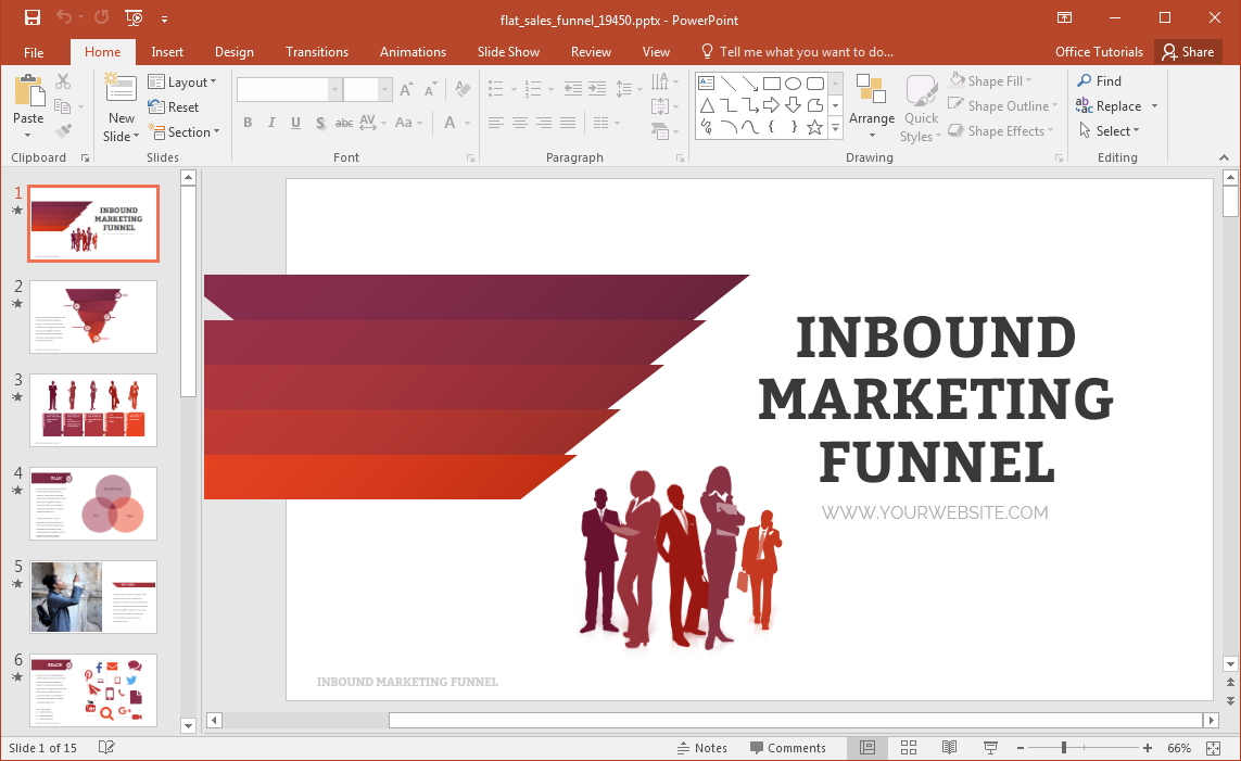 flat-sales-funnel-powerpoint-template