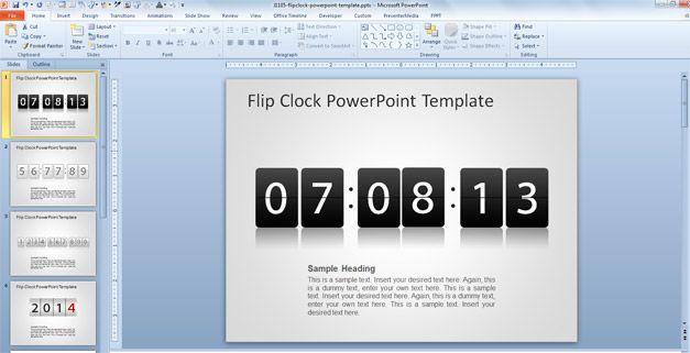Flipclock PowerPoint Template