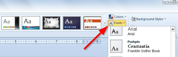fonts powerpoint
