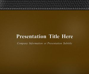 Executive Leather PowerPoint Template Brown