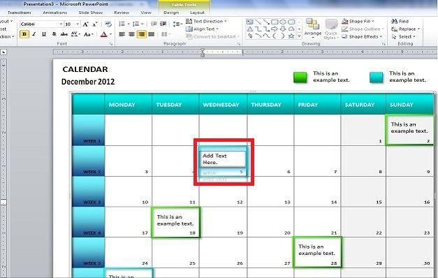 calendar ppt template