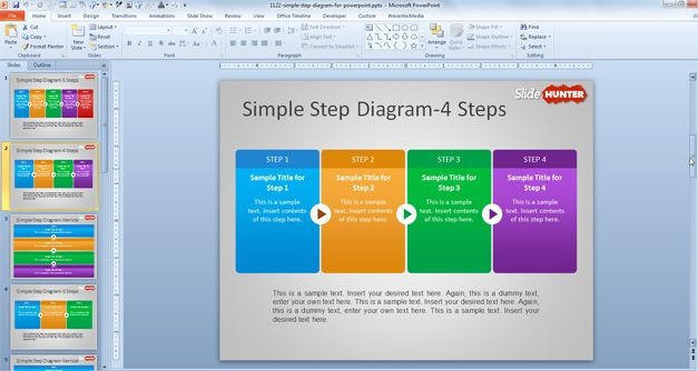 four step powerpoint template
