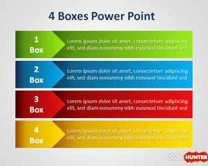 Four Box PowerPoint Template