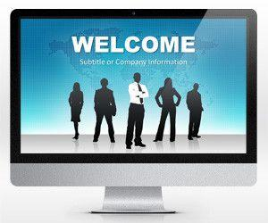 Free Widescreen Global Leadership PowerPoint Template