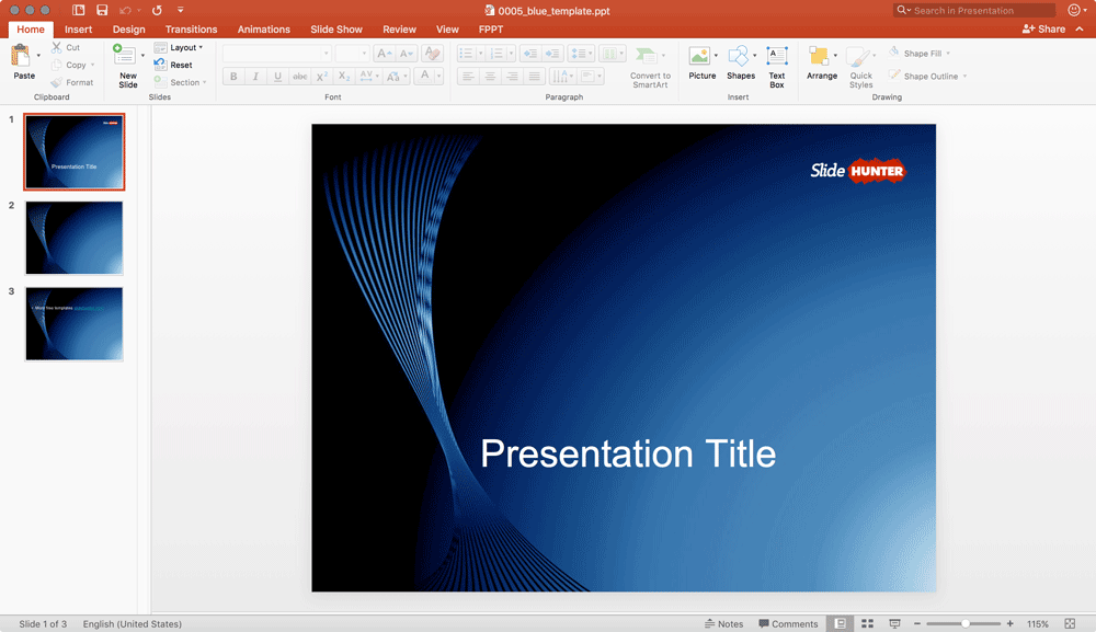 Free Blue PowerPoint Background
