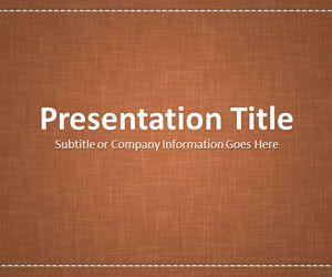Linen Brown PowerPoint Template