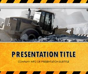 Free Industrial PowerPoint Template with Yellow Background