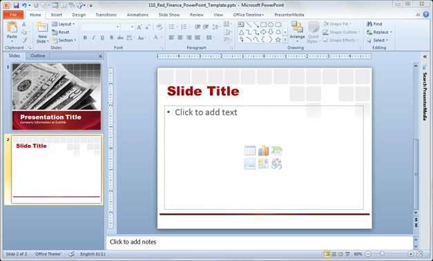 Free Sample red PowerPoint template backgrounds