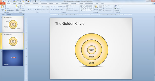 Golden Circle Diagram for PowerPoint