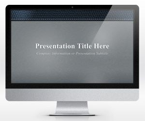 Leather Gray PowerPoint Template (16:9)