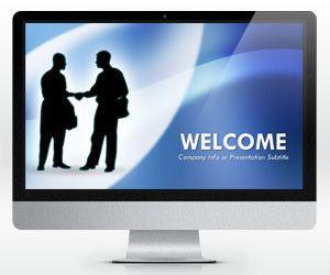 Plantilla PowerPoint de Negociación Azul (16:9)