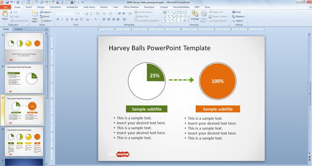 Harvey Balls for PowerPoint