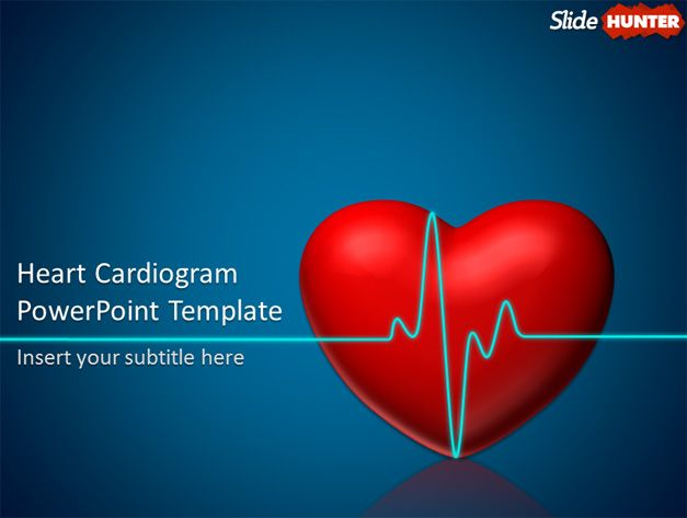 Free Cardiogram PowerPoint Template with Animation Effect