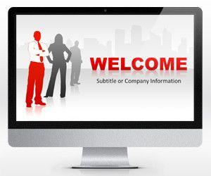 Red Leadership PowerPoint Template 16:9