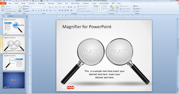 Free Magnifier Shape for PowerPoint