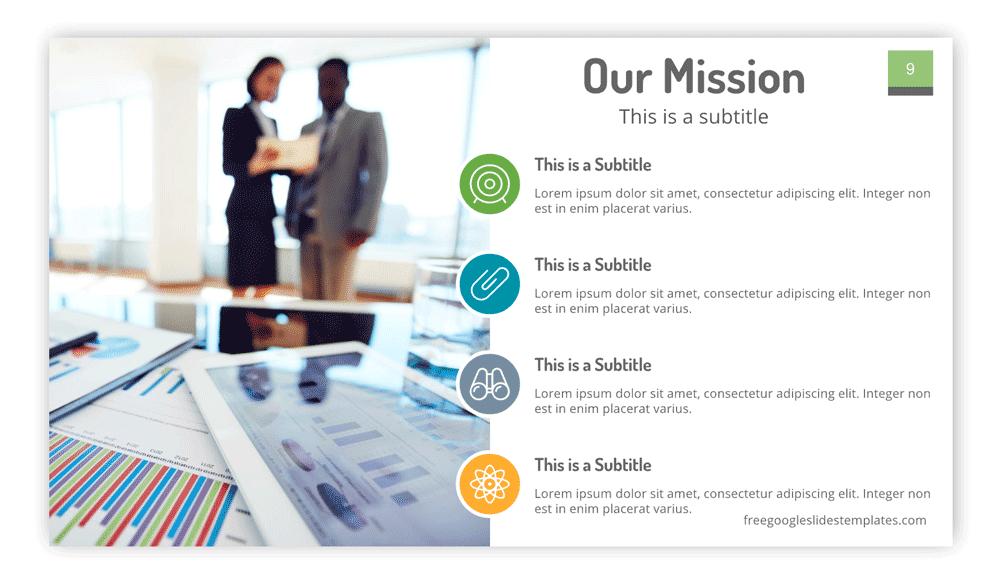 Free Mission Statement Slide Design