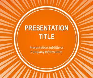 Orange Sunburst PowerPoint Template